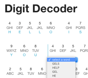 Digit Decoder - click to view live application