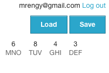Screenshot showing Load and Save buttons
