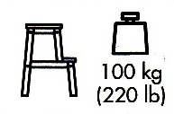 Step stool next to weight