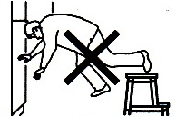 Step stool defenestration