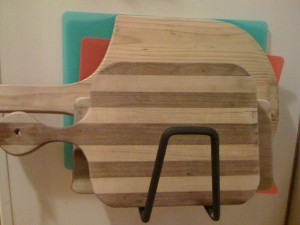 Garden Hose Rack as Cutting Board Rack