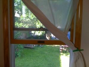 Grandma's Window Curtain - open