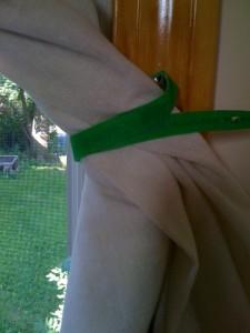 Grandma's Window Curtain - closeup