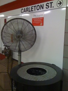 Fan and Garbage Can
