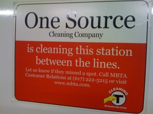 Advertisement for Cleaning Company