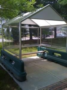 Alternate Use for a Shopping Cart Shelter